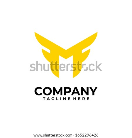 initial letter M logo design vector inspiration Stock fotó ©