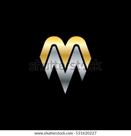 initial letter m mm isolated