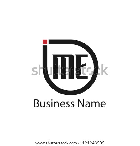Initial Letter ME Logo Template Design Stok fotoğraf ©