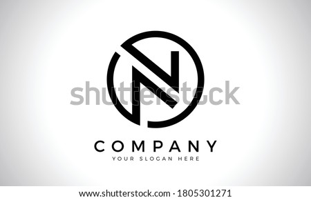 Initial Letter N Logo With Creative Modern Business Typography Vector Template. Creative Abstract Letter N Logo Design Stock fotó ©