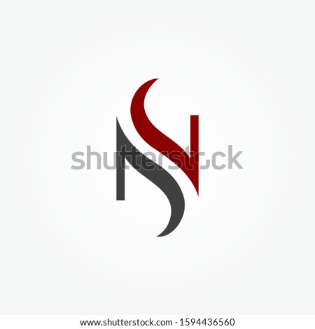 Initial letter NS abstract vector template. business logo concept vector illustration. Design element. icon or symbol template Stock fotó ©