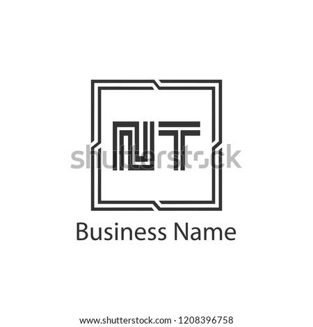 Initial Letter NT Logo Template Design Stock fotó ©