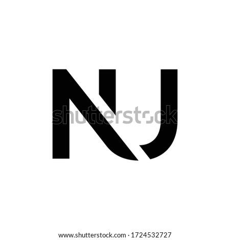 Initial Letter NU Logo Design Vector Template. Creative Abstract NU Letter Logo Design Foto stock ©