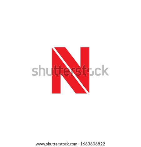 Initial letter nv logo or vn logo vector design templates Imagine de stoc ©