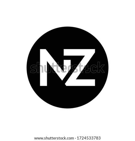 Initial Letter NZ Logo Design Vector Template. Creative Abstract NZ Letter Logo Design Stock fotó ©