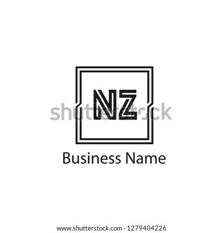 Initial letter NZ logo template Design Stock fotó ©