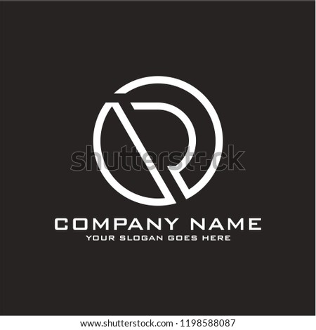Initial letter O R logo template vector Foto stock ©
