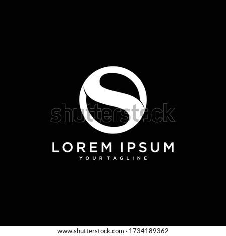 Initial letter O S OS SO minimalist art monogram shape logo, white color on black background Zdjęcia stock ©