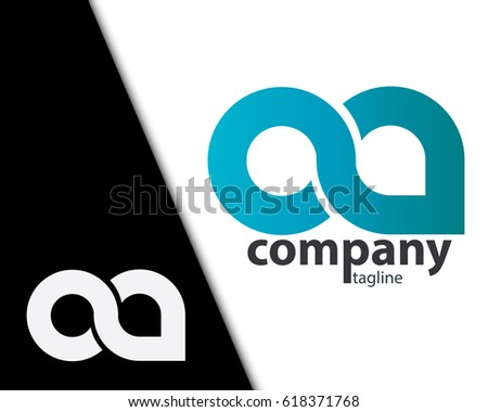 Initial Letter OA CA Rounded Lowercase Logo Zdjęcia stock ©
