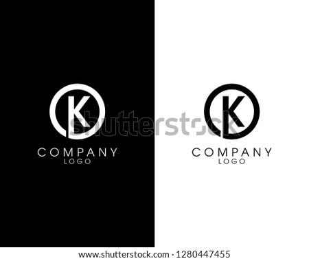 initial letter ok/ko logotype company name design. vector logo for business and company identity Zdjęcia stock ©