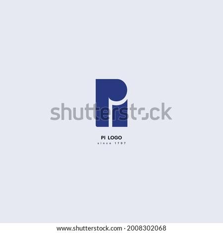 Initial Letter PI Pi linked Design Logo. Vector illustration.  Zdjęcia stock ©