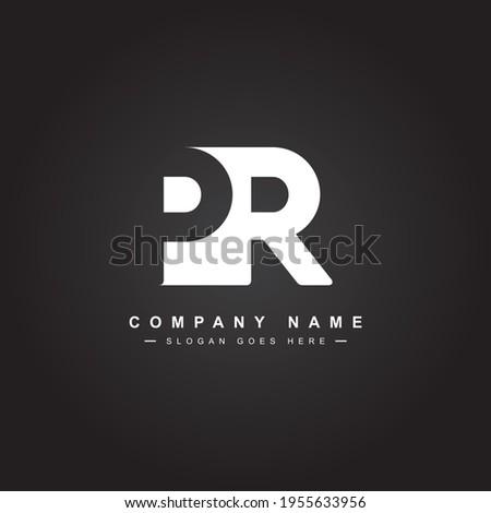 Initial Letter PR Logo - Minimal Business Logo Stockfoto ©