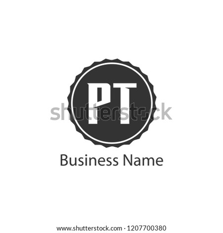 Initial Letter PT Logo Template Design Stock fotó ©