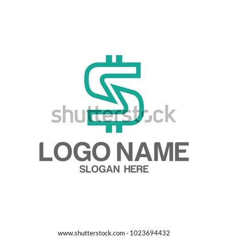 Initial letter s dollar logo design Stock photo ©