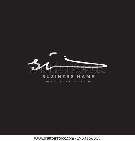 Initial Letter SI Logo - Handwritten Signature Logo Zdjęcia stock ©