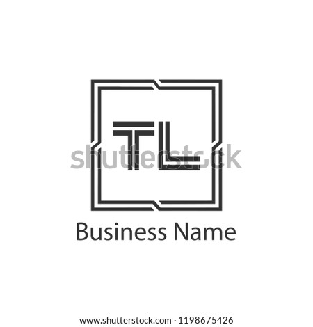 Initial Letter TL Logo Template Design Stock fotó ©