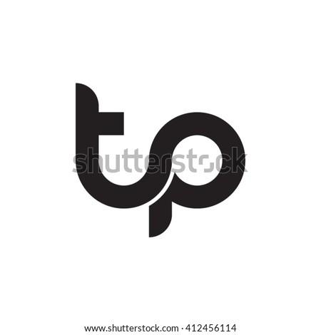 initial letter tp linked round lowercase monogram logo black Stock fotó ©