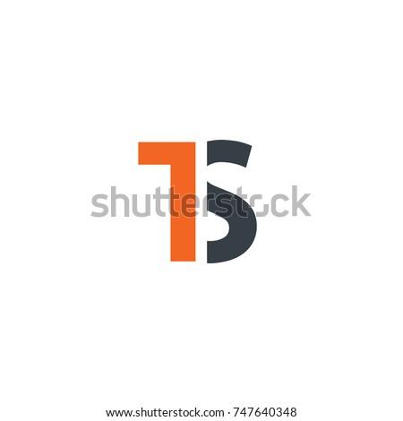 Initial Letter TS Design Logo Stock fotó ©