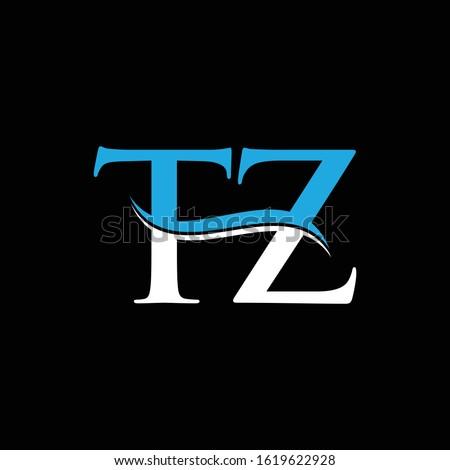 Initial Letter TZ Logo Design Template. Abstract TZ Linked Letter Vector Illustration Stock fotó ©