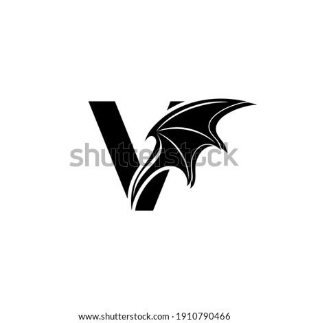 initial letter v logo and