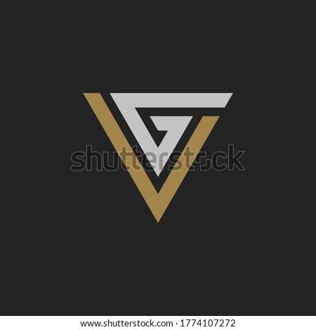 Initial Letter VG or GV Monogram Logo Template Design Stok fotoğraf ©
