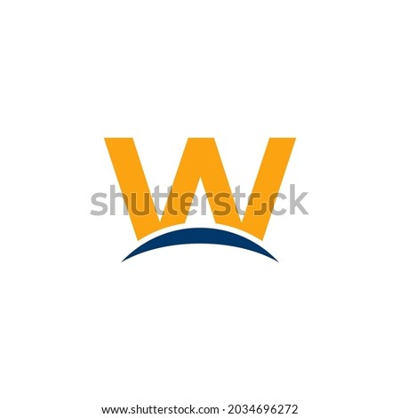 Initial Letter W Horizon Logo Design Template. Eps10 Vector Zdjęcia stock ©