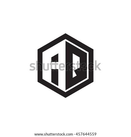 Initial letters AQ negative space hexagon shape monogram logo