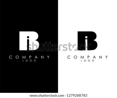 Initial Letters bi/ib abstract company Logo Design vector Foto stock ©