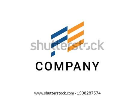 Initial letters FE logo design inspiration Photo stock ©