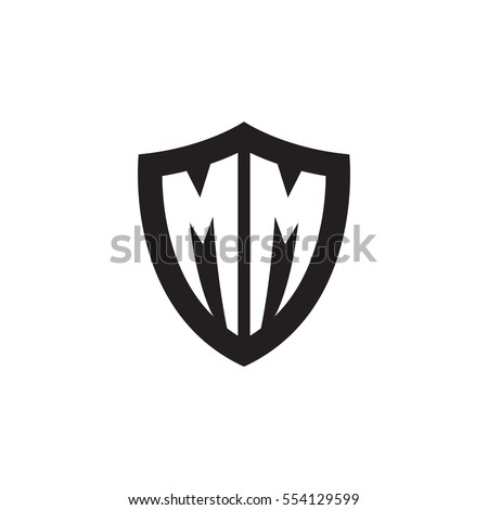 initial letters mm shield shape