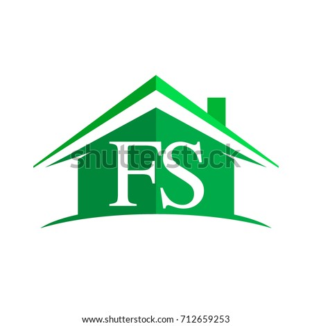initial logo fs with house icon