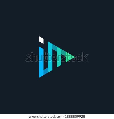 initial logo IM play geometric Stok fotoğraf ©
