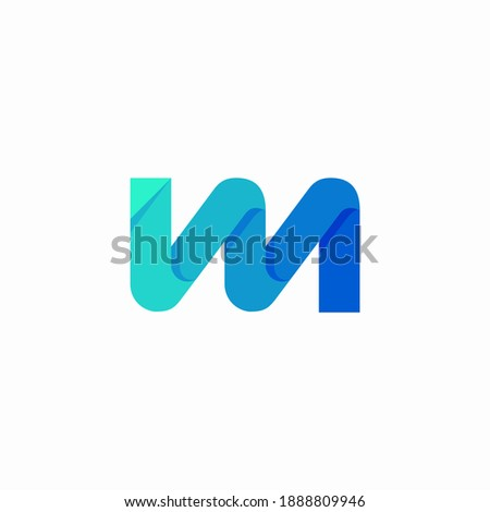initial logo IM wave monogram Stok fotoğraf ©