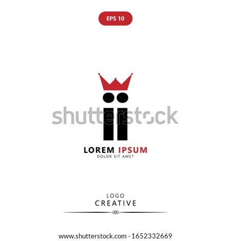 initial logo letter i ii