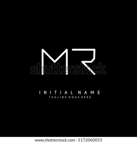 Initial M R minimalist modern logo identity vector Stock fotó ©
