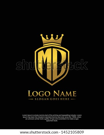 initial MC letter with shield style logo template vector Zdjęcia stock ©
