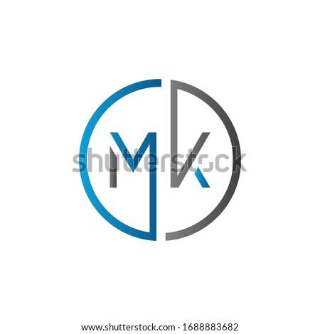 Initial MK letter Logo Design vector Template. Abstract Letter MK logo Design Stock fotó ©