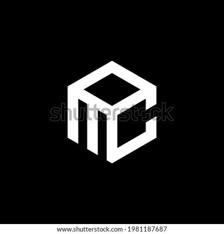 initial MOC Letter Logo Design polygon Monogram Icon Vector Template.LOGO MC Zdjęcia stock ©