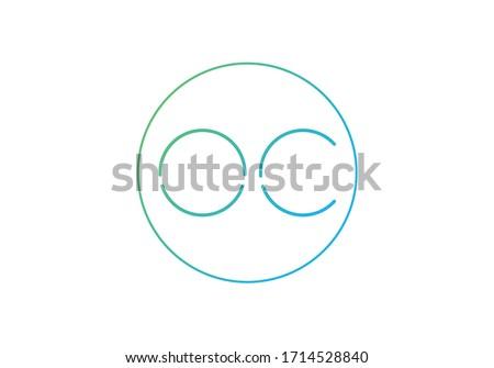 Initial Monogram Letter O C Logo Design Vector Template. OC Letter Logo Design Foto stock ©
