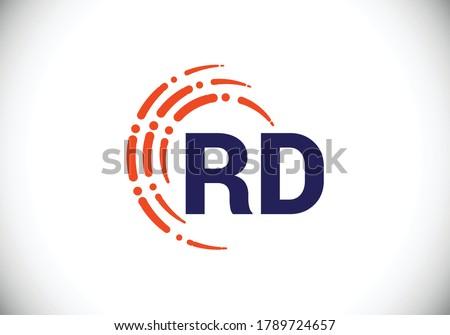 initial monogram letter r d