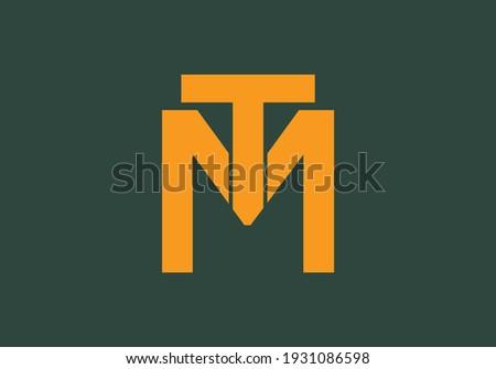 Initial Monogram Letter T M Logo Design Vector Template Zdjęcia stock ©