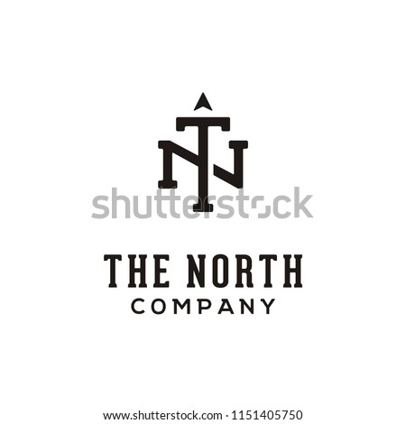 Initial/Monogram TN for North Logo design inspiration