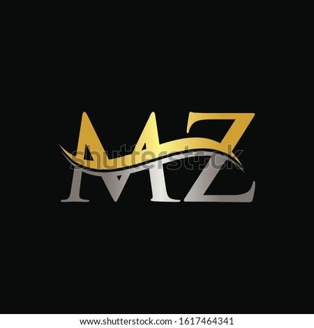 Initial MZ letter Logo Design vector Template. Abstract Letter MZ logo Design Stock fotó ©