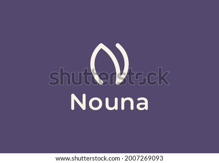 initial N and flower logo. Flower symbol. Beauty, spa, salon, cosmetics or boutique logo and more business.  Foto stock ©