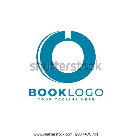 Initial O Book Logo Design. Usable for Education, Business and Building Logos. Flat Vector Logo Design Ideas Template Element Foto stock ©