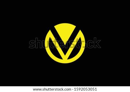 Initial OV VO modern monogram and elegant logo design, Professional Letters Vector Icon Logo on black background. Stock fotó ©