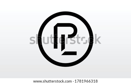 Initial PL Letter Logo With Creative Modern Business Typography Vector Template. Creative Letter PL Logo Vector. Stock fotó ©