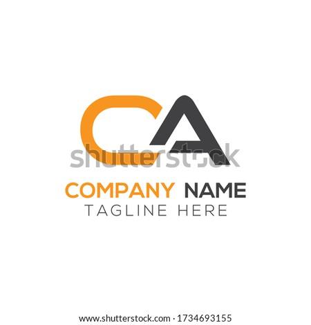 Initial Simple Letter OA or CA Logo Design Vector Template. Abstract Minimal OA or CA Letter Logo Design Zdjęcia stock ©