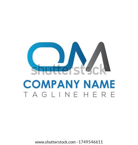 Initial Simple Letter OM Logo Design Vector Template. Abstract Minimal OM Letter Logo Design Foto stock ©