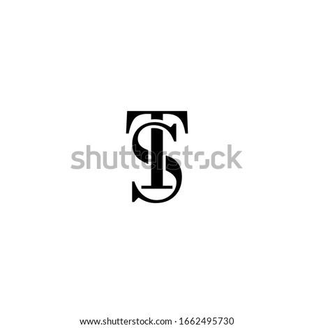 Initial text ST TS S T Letter logo design vector. Illustration of Letter ST TS S T Logotype Stok fotoğraf ©